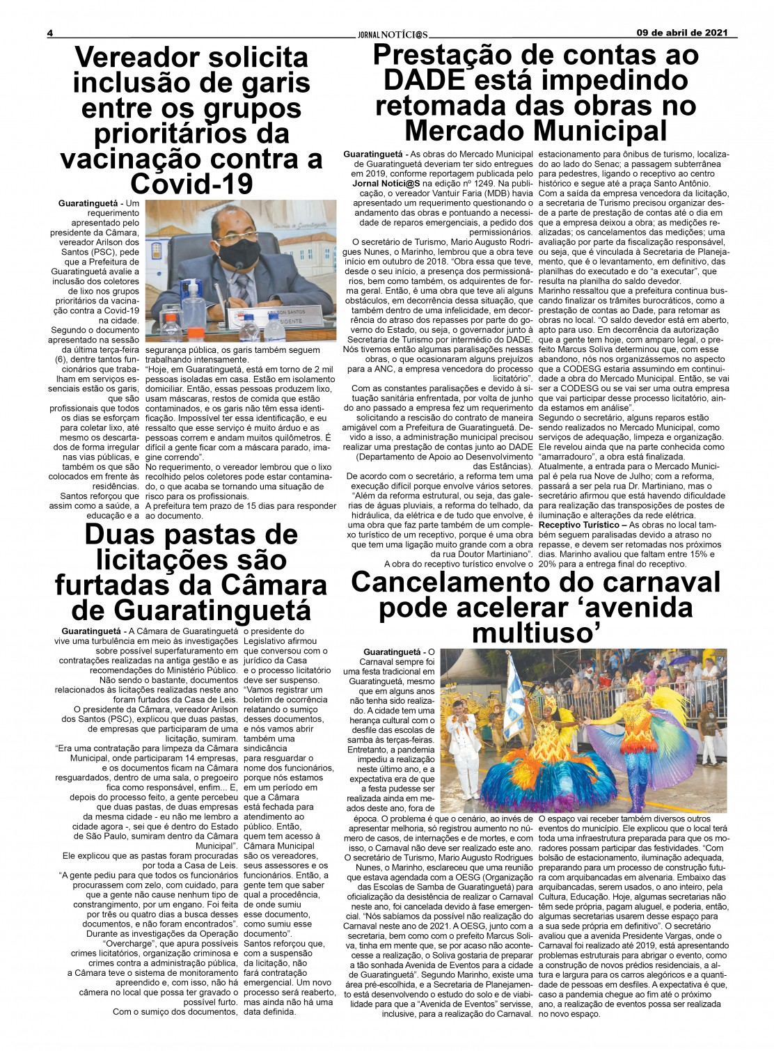 Edição nº1251 do Jornal pagina 1251