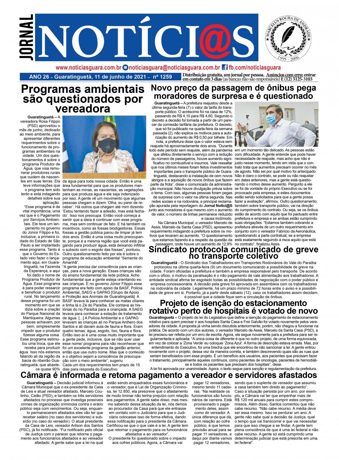 Edição nº1259 do Jornal pagina 1259