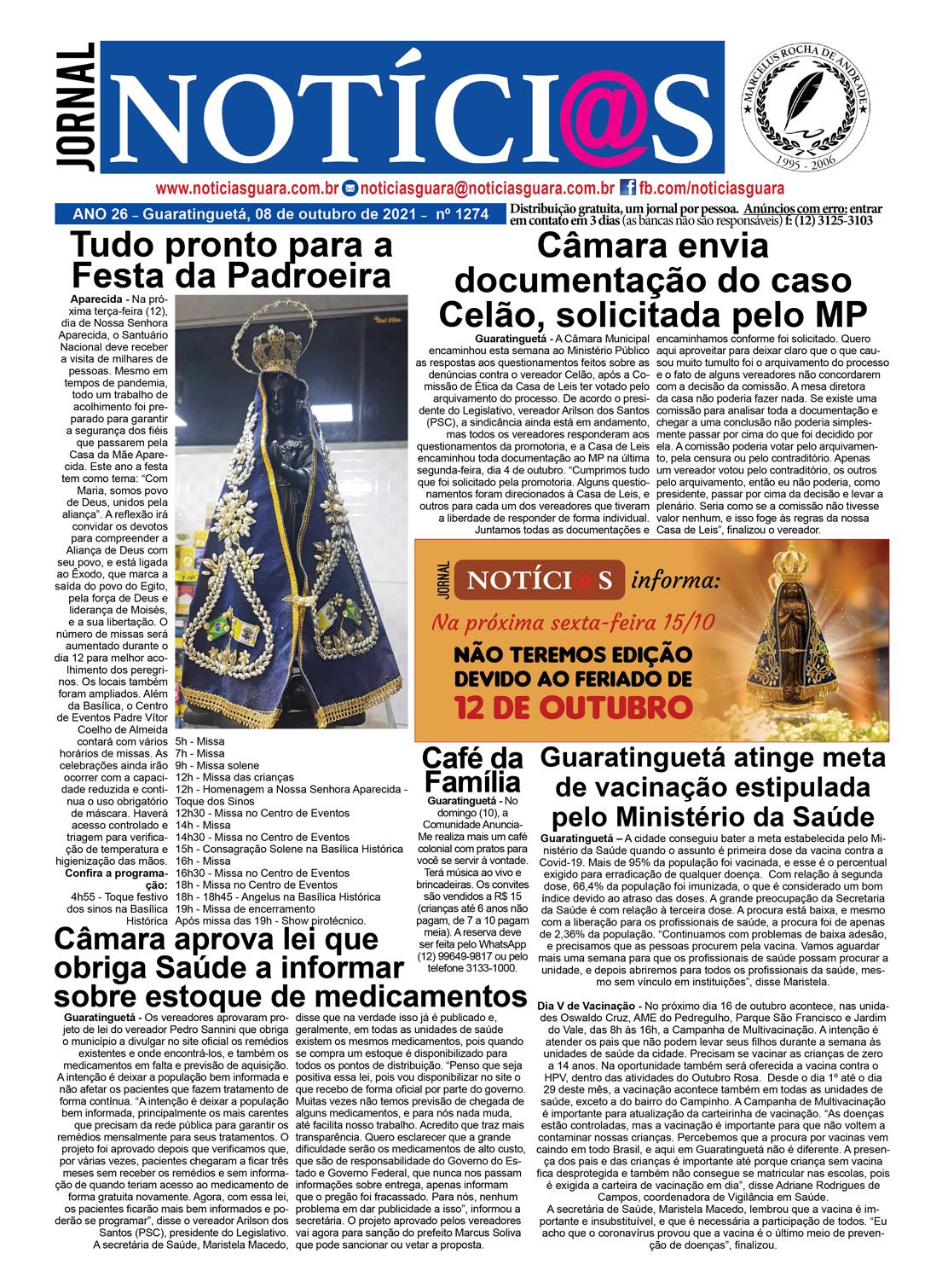 Edição nº1274 do Jornal pagina 1274